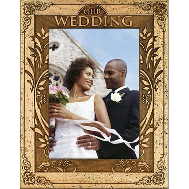 Giftworks Plus WED0094 Our Summer Wedding, Alder Wood Frame, 3.5 x 5 In