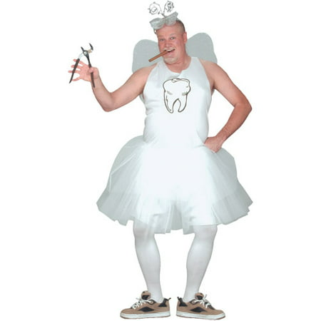 Tooth Fairy Adult Halloween Costume, Size: Up to 200 lbs - One Size - Womens Tooth Fairy Costume