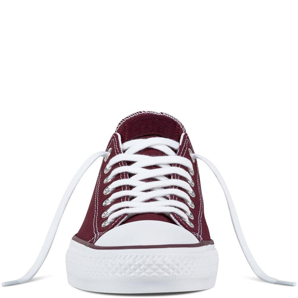 Converse CTAS Pro Ox (Dark Sangria/White/White) Men's Skate Shoes-12