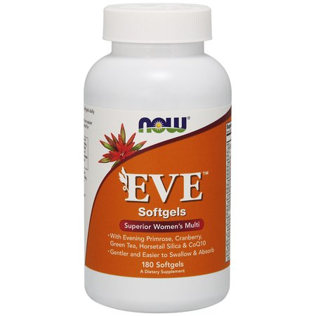 NOW Supplements, Eve™ Women's Multivitamin with Evening Primrose, Cranberry, Green Tea, Horsetail Silica & CoQ10, 180 Softgels