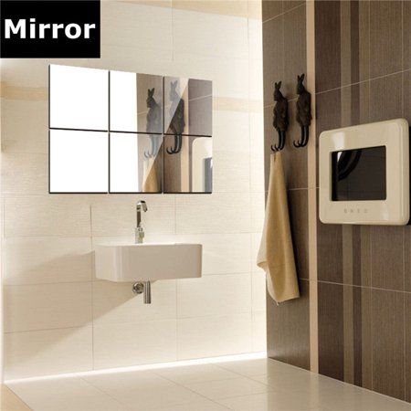 16pcs bathroom removeable self-adhesive mosaic tiles mirror wall