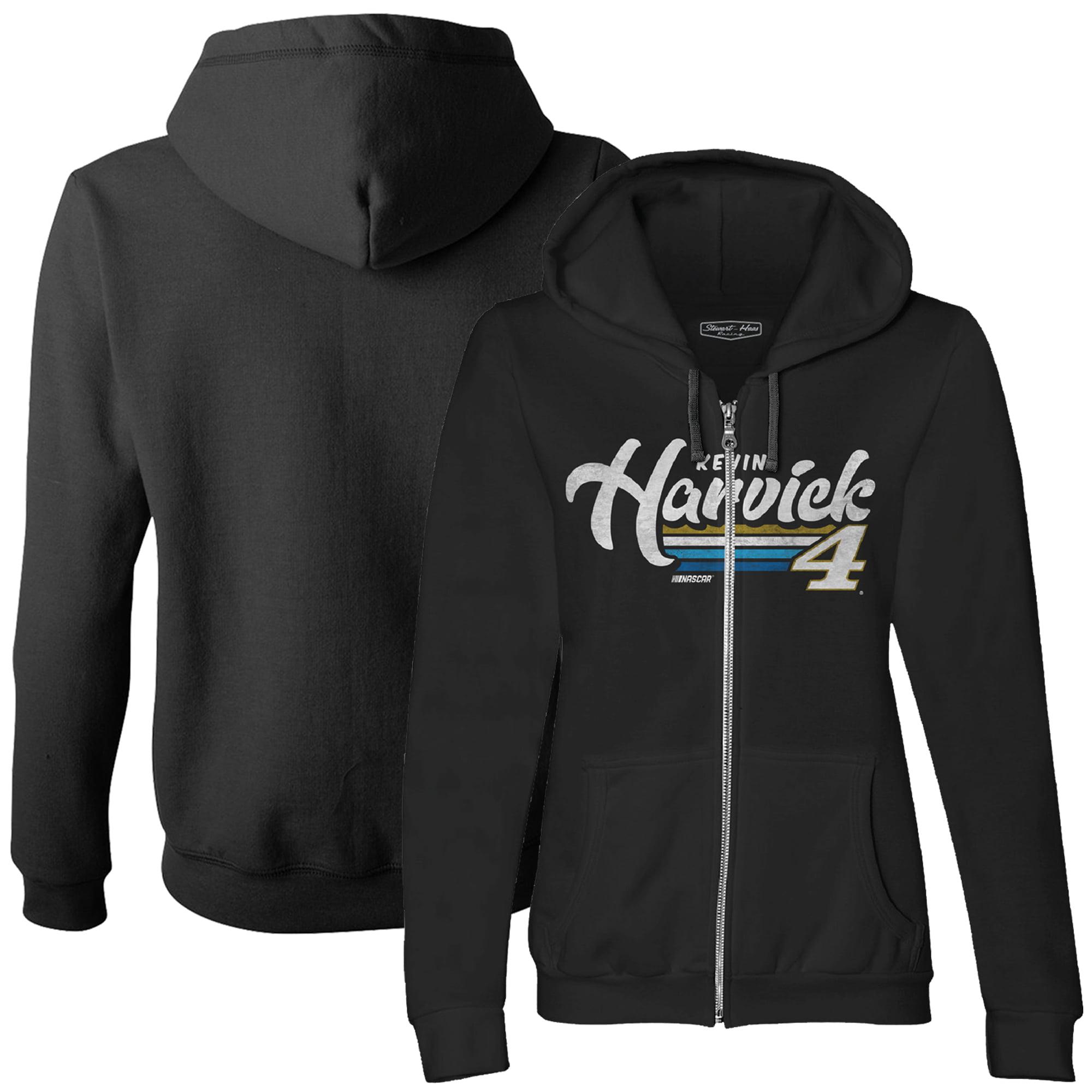 Kevin Harvick Stewart-Haas Racing Team Collection Women's Full-Zip Hoodie - Black
