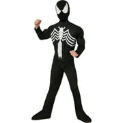 Deluxe Black Spider-Man Muscle Chest Child Halloween Costume
