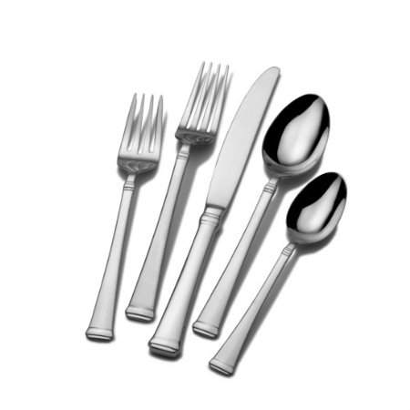 Mikasa Harmony 65-Piece Stainless Steel Flatware Set with Serveware, Service for 12 ()