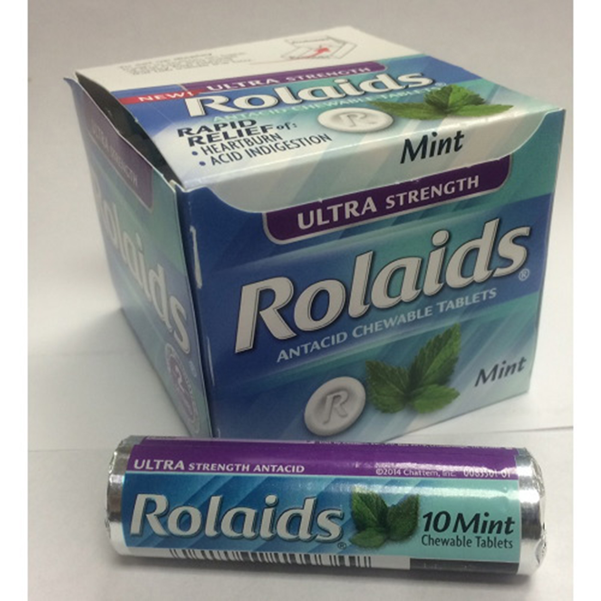 ROLAIDS ULTRA STRENGTH MINT ANTACID ( 12 in a Pack )