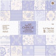 """Papermania Paper Pack, 8"""" x 8"""", 32pk, French Lavender"""