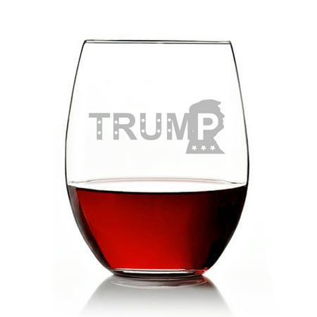 Trump Engraved 15 oz  Stemless Wine Glass](Engraved Wine Glass)