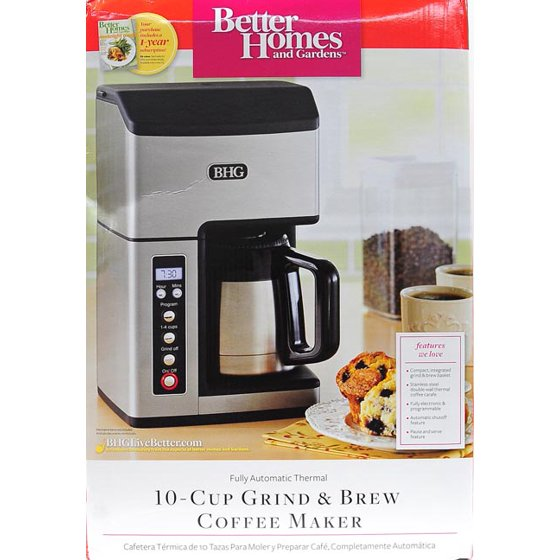 Better Homes and Gardens Fully Automatic Thermal 10-Cup Grind & Brew