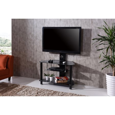 Hodedah Imports 35 in. TV Stand with Swiveling Mount