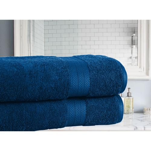 Affinity Home Collection Soft and Absorbent Cotton Economic Bath Sheet (Set of 2)