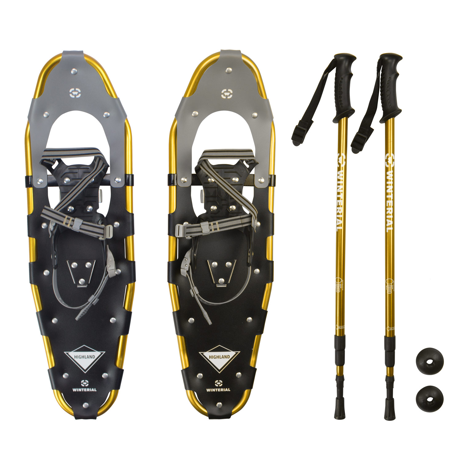 Winterial Highland Snowshoes   Recreational Snowshoeing   Adult   Backcountry   Rolling Terrain Snowshoes   POLES... by Winterial