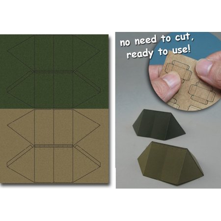 1/35 WWII US Army Shelter Tent #1 (Olive Green & Khaki) (Pre-cut Paper)