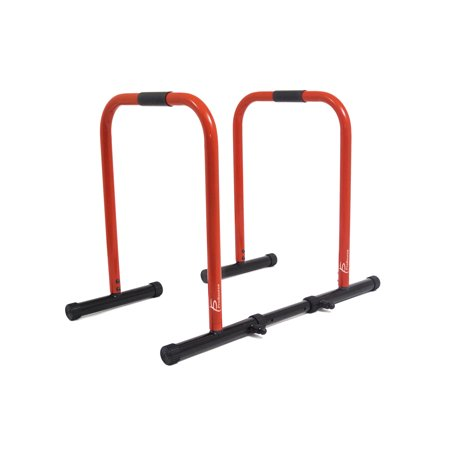 ProSource Dip Stand Station, Heavy Duty Ultimate Body Press Bar with Safety Connector for Tricep Dips, Pull-Ups, Push-Ups, L-Sits,(3 colors available) - Dip For Crackers