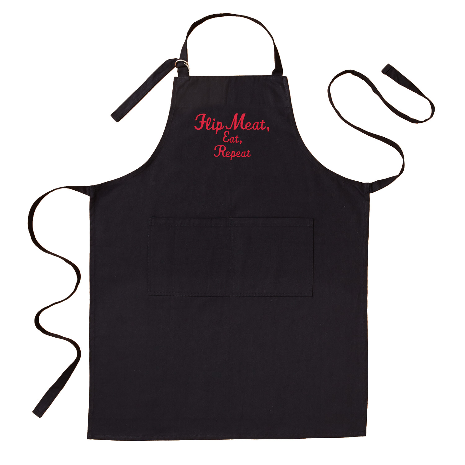Personalized Family Fun Embroidered Grill Apron - Available in 2 Colors and 2 Fonts