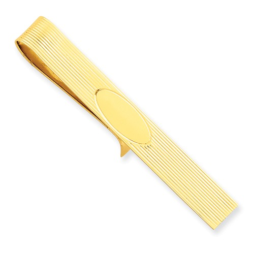 14k Yellow Gold Engravable Tie Bar