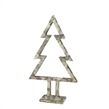 """Image of 17"""" Country Cabin White Birch Tree Silhouette Christmas Table Top Decoration"""