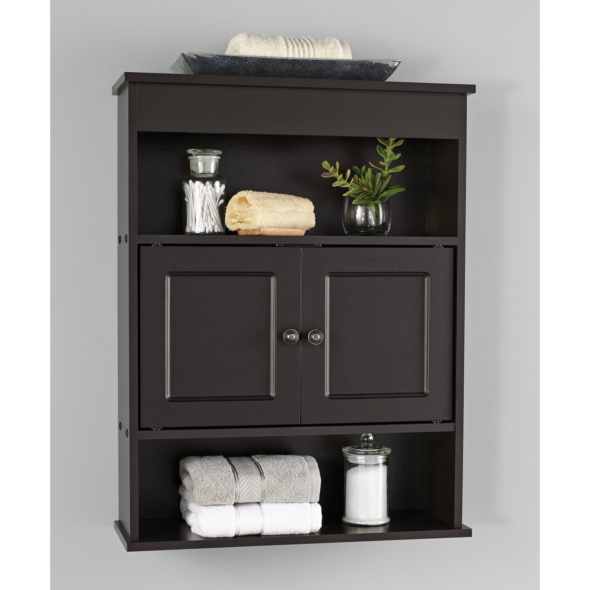 chapter bathroom wall cabinet, espresso - walmart