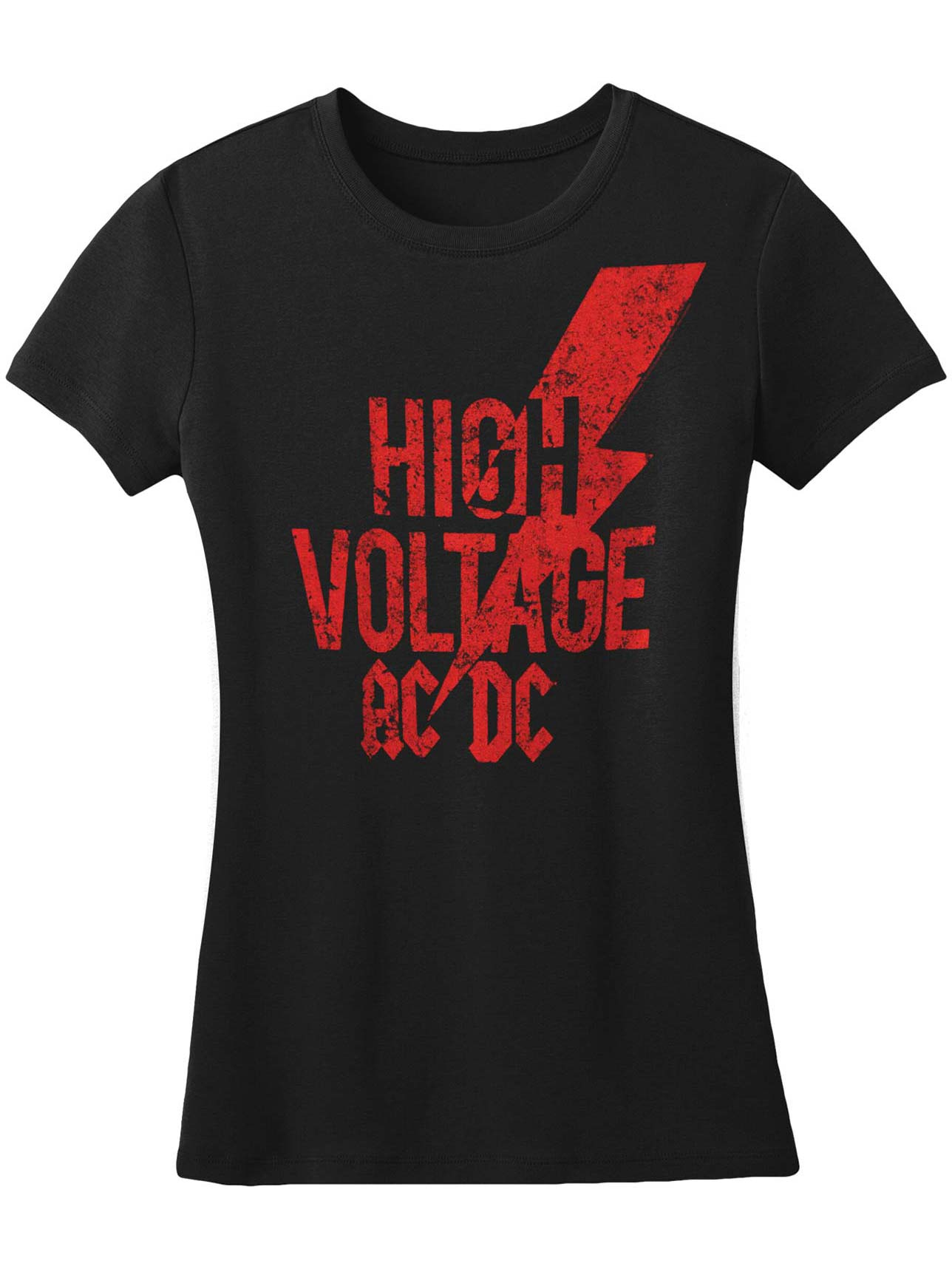 AC/DC  High Voltage Red Logo Girls Jr Black