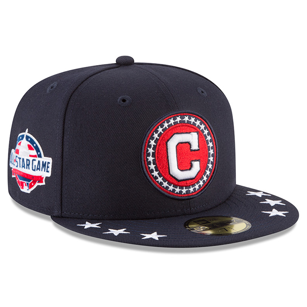 Cleveland Indians New Era 2018 MLB All-Star Workout On-Field 59FIFTY Fitted Hat - Navy