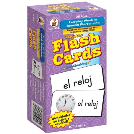 Everyday Words in Spanish: Photographic Flash Cards: Palabras de Todos Los Días: Fotográfico (Spanish Words That Start With Every Letter)