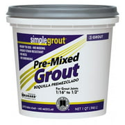 Custom Building Products 1 Quart Bright White Pre-Mixed Grout  PMG381QT - Pack of 6