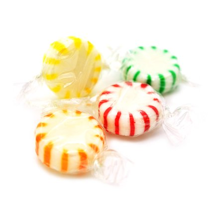 Lemon Orange Candy (Arcor Assorted Fruits - Strawberry, Lemon, Green Apple & Orange - Starlights White Center Wrapped Hard Sucking Candy bulk 3 pounds )