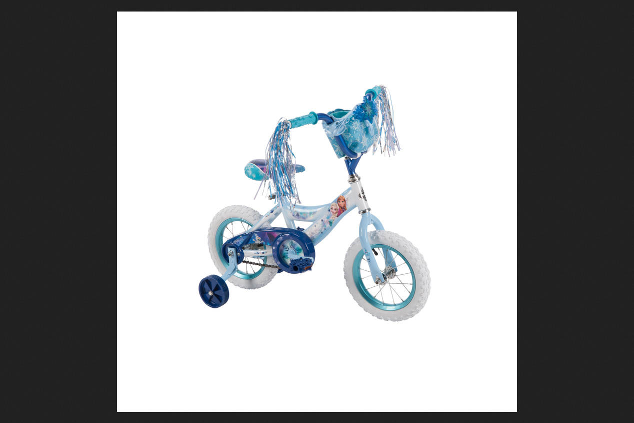 Huffy 12 in. Disney Frozen Bike with Blue Handlebar Bag by Huffy