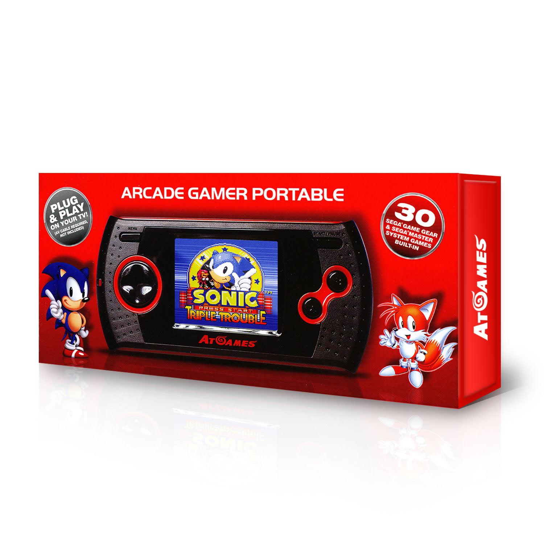 SEGA Handheld Arcade Gamer with 30 8-Bit Games Built-In, Black, GP1024