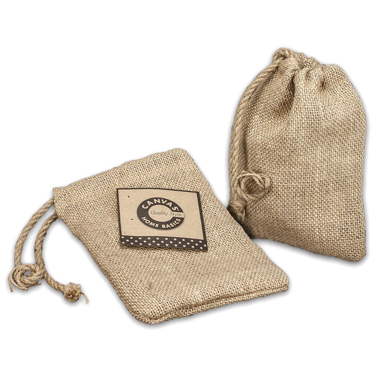 """Burlap Drawstring Bag 5""""X7""""-Natural"""
