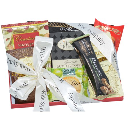 - With Sincere Condolences and Sympathy Deluxe Gift Basket
