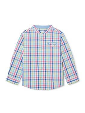 Wonder Nation Baby and Toddler Boys' Button Down Collarless Shirt