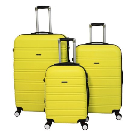 World Traveler Regis 3 Piece Hardside Expandable Spinner Luggage Set