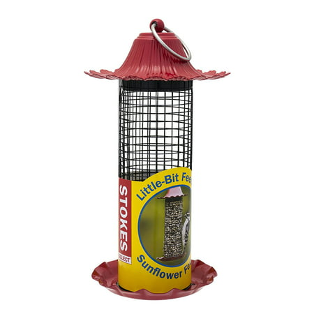 Little-Bit Feeders Sunflower Bird Feeder with Metal Roof, Red, .5 lb Seed Capacity, HIGH QUALITY: Constructed from durable, rust proof, high.., By Stokes