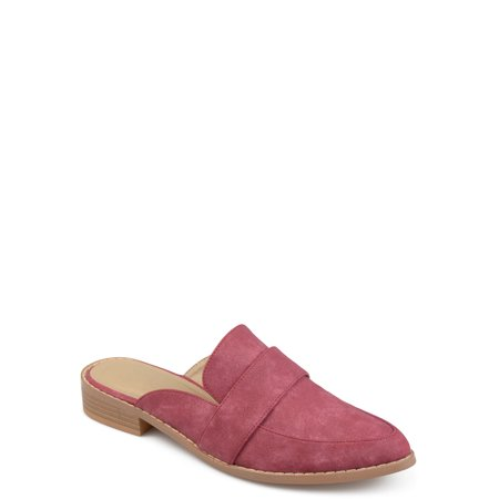 Brinley Co. Women's Faux Leather Slip-on Almond Toe Mules