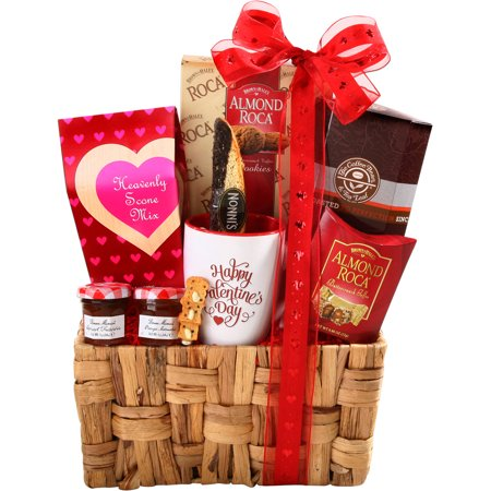Image of Alder Creek Breakfast for My Valentine Gift Basket, 10 pc