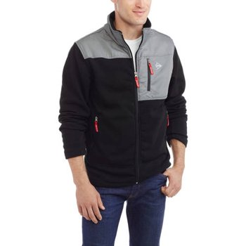 Dunlop Mens Lightweight Marled Fleece Full-Zip Jacket