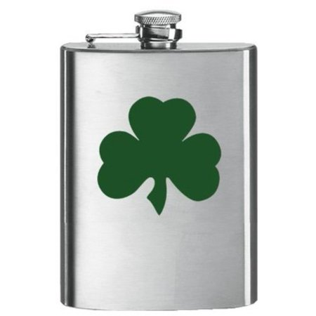 Shamrock 8 Oz. Hip Flask