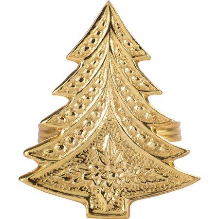 Christmas Tree Napkin Rings.Saro Christmas Tree Napkin Ring Set Of 4