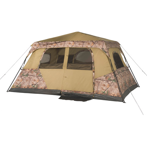 ozark trail 13' x 9' instant cabin tent with realtree xtra camo