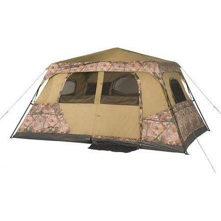 Ozark Trail 13 X 9 Instant Cabin Tent With Realtree Xtra Camo  Sleeps 8
