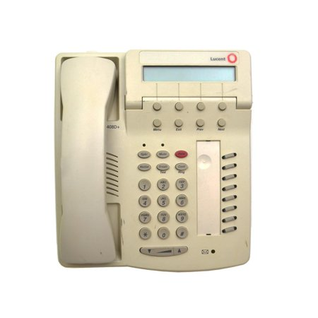 6408D+ 108163973 Genuine Original Lucent Avaya White Phone Unit AND Handset Networking Phones / Telephones - Used Very Good