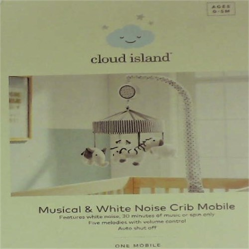 Cloud Island Crib Mobile Two by Two Gray by Cloud Island