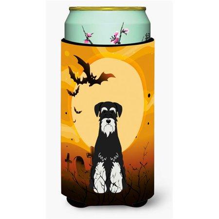 Halloween Standard Schnauzer Salt & Pepper Tall Boy Beverage Insulator - Cute Salt And Pepper Halloween Costumes