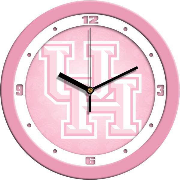 Houston Pink Wall Clock