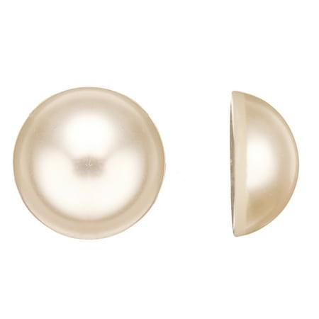 Beads Supplies 13pcs Round Flat Back Pearl Cabochon 20x9mm
