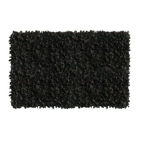 Home Weavers Inc. Leather Shaggy Area Rug
