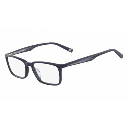 Marchon NYC M-MOORE Eyeglasses 434 Blue (Frame Nyc Menu)