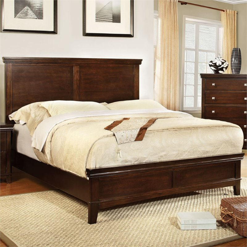 Furniture of America Fanquite 2 Piece Queen Bedroom Set in Brown Cherry by Furniture of America