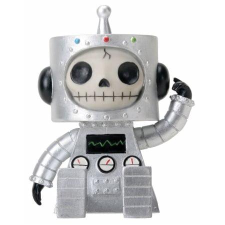 Furrybones Chip Skeleton Dressed in a Robot Costume Figurine Statuette - Chimp Costumes