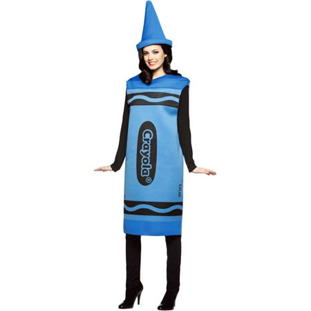 Crayola Blue Adult Halloween Costume - Kate Middleton Halloween Costume Blue Dress